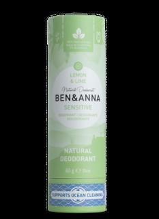 Ben & Anna Tuhý deodorant Sensitive BIO 60 g - Citrón a limetka