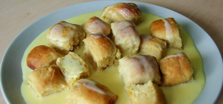Recept BUCHTIČKY S VANILKOVÝM KRÉMEM ze špaldové mouky