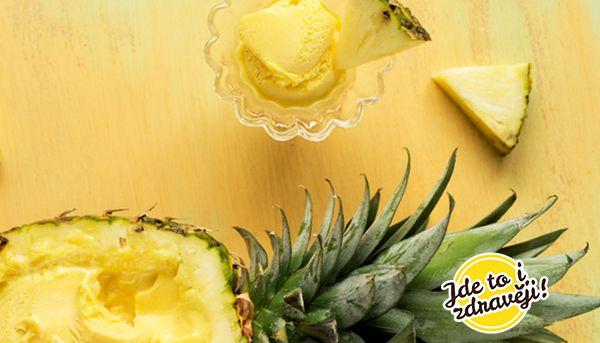 Recept Ananasová zmrzlina bez mléka