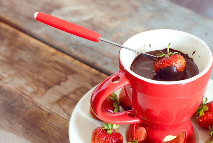 Recept Čokoládové fondue