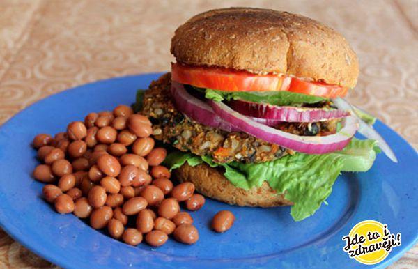 Recept Fazolový mexický hamburger s limetkovým jogurtem