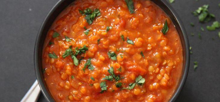Recept Červená čočka se sušenými rajčaty