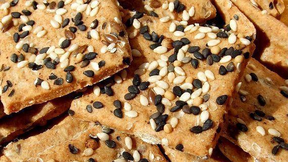 Recept Slané sezamové krekry