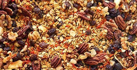 Recept Pečená mrkvová granola spekanovými ořechy