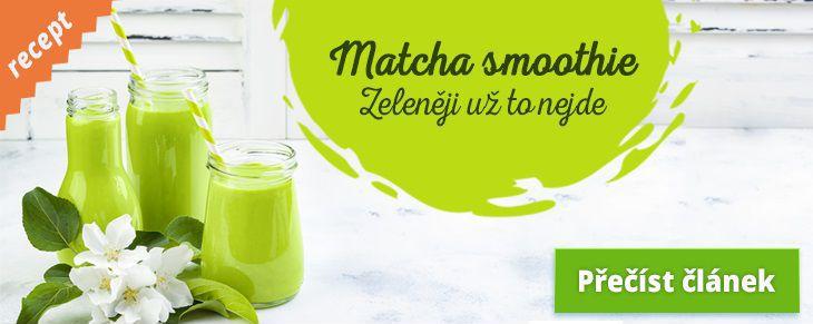 Recept Zelené špenátové smoothie smatcha čajem