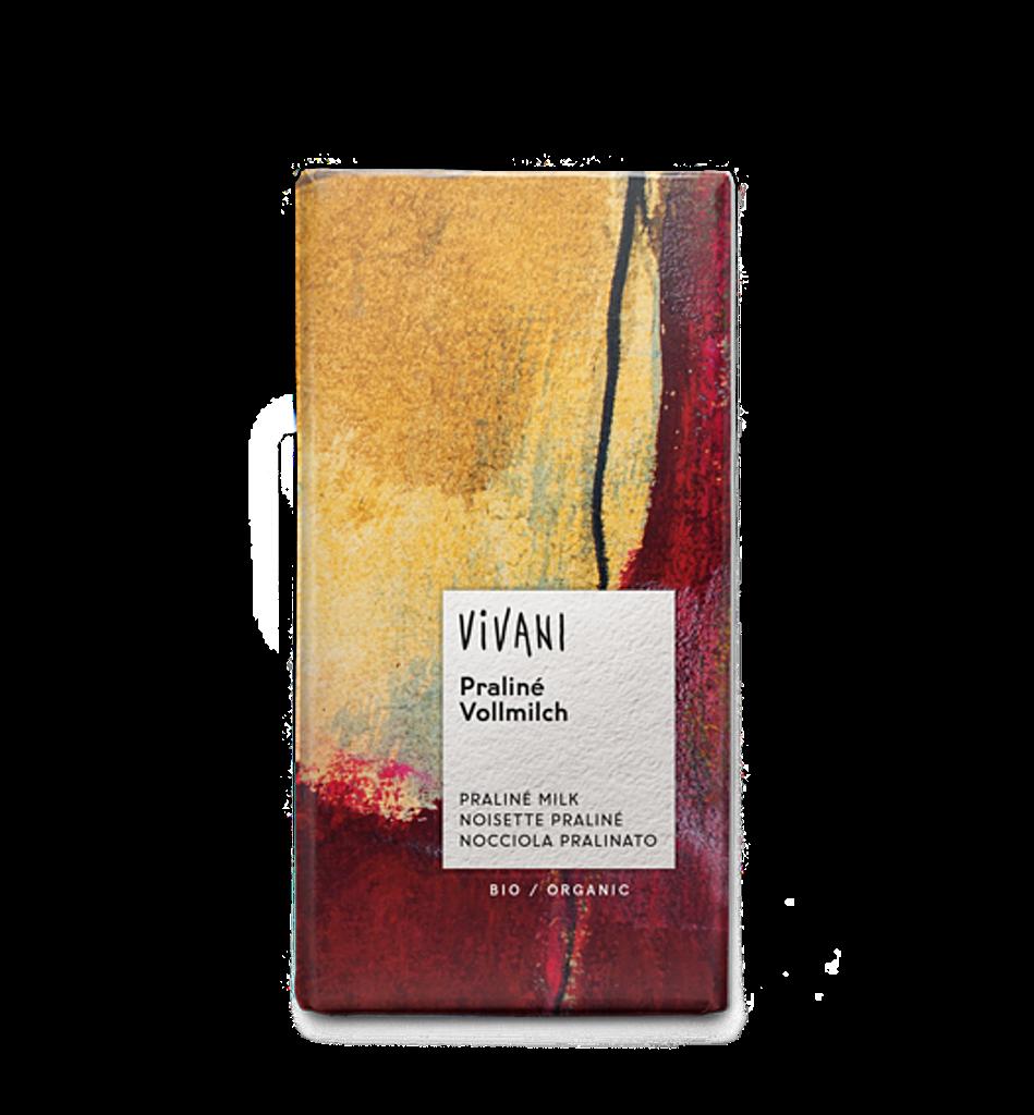 Čokoláda Vivani mléčná pralinková 100g Bio