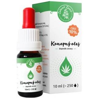 Zelená Země CBD Konopný olej 10% - 10 ml