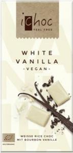 iChoc Rýžová čoko bílá s vanilkou 80 g