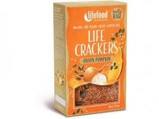Lifefood Life Crackers Cibulové s dýňovým semínkem 90g Bio