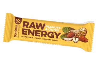 Bombus Raw Energy tyčinka arašídy a datle 50g
