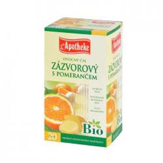 APOTHEKE Bio zázvor a pomeranč čaj n.s. 20x1,5g