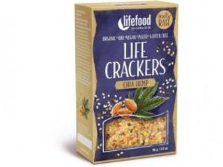 Lifefood Life Crackers Konopné s chia 90g Bio