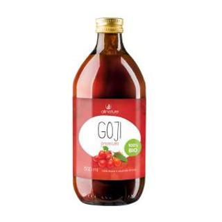 Allnature Goji kustovnice čínská Premium 100% šťáva 500ml Bio