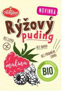 Amylon Puding rýžový s malinou 40 g Bio
