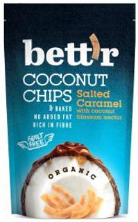 Bett´r Kokosové chipsy se slaným karamelem Bio 70g