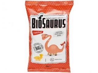 Biosaurus Kukuřičné křupky s kečupem Babe Bio 50 g