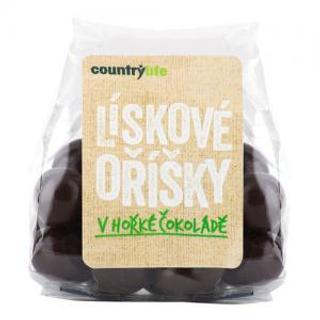Country Life Lískové oříšky v hořké čokoládě 100g