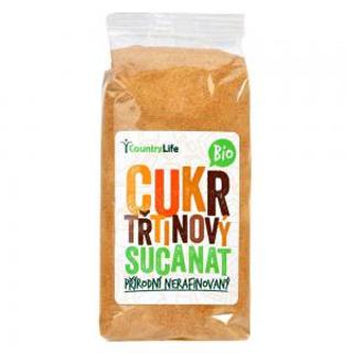 Country Life cukr třtinový Sucanat přírodní nerafinovaný Bio 500g