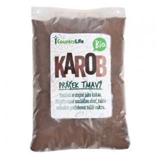 Country Life Karobový prášek tmavý Bio 500 g (Svatojánský chléb)
