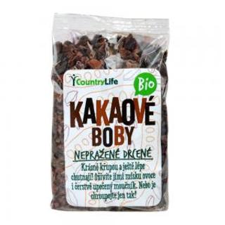 Country Life kakaové boby nepražené drcené Bio 100g