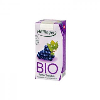 Hollinger Šťáva ovocná červený hrozen 200ml Bio