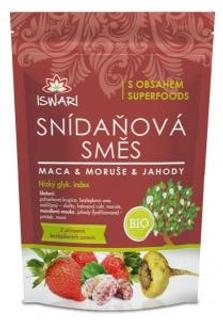 Iswari směs snídaňová maca, moruše a jahody bio 300 g