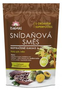 Iswari směs snídaňová nepražené kakao, lucuma bio 300 g