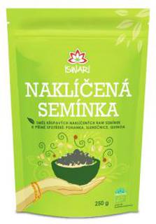 Iswari Směs naklíčených semínek pohanka, slunečnice, quinoa 250 g Bio