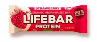 Lifefood Lifebar Protein bio tyčinka jahodová 47g