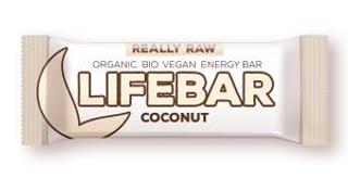 Lifefood Lifebar bio tyčinka kokos 47g
