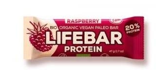 Lifefood Lifebar Protein bio tyčinka malinová 47g