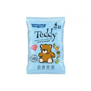 Little Angel Snack kukuřičný Teddy mrkev a dýně Bio 30g