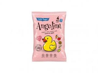 Little Angel Angelina kukuřičný snack Mrkev a Jablka Bio 30g