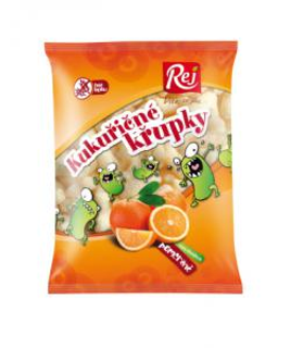Rej Kukuřičné křupky pomerančové bezlepkové 90g