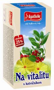 APOTHEKE čaj na vitalitu s kotvičníkem 20 x 1,5 g