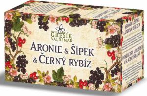 Grešík Aronie & Šípek & Černý rybíz ovocný čaj 20 x 2,0 g