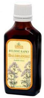 BALDRIÁNSKÉ bylinné kapky 50ml Grešík