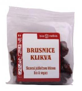 Bio Nebio Brusnice klikva s jablečným sirupem 75g Bio