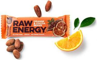 Bombus Raw Energy tyčinka pomeranč a kakaové boby 50g