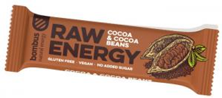 Bombus Raw Energy tyčinka kakao a kakaové boby 50g