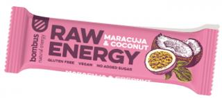 Bombus Raw Energy tyčinka maracuja a kokos 50g