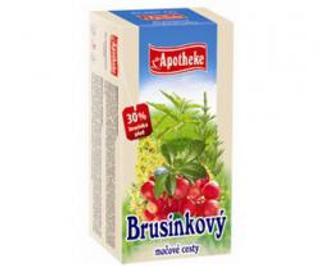 APOTHEKE čaj brusinkový močové cesty n.s. 20 x 1,5 g