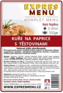 Komplet Menu Kuře na paprice s těstovinami 350g