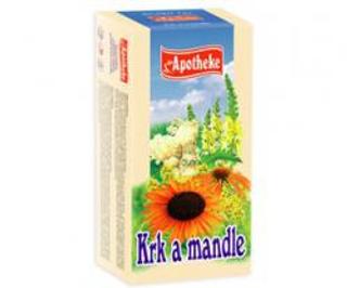 APOTHEKE čaj krk a mandle n.s. 20 x 1,5 g