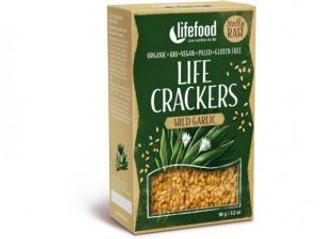 Lifefood Life Crackers s medvědím česnekem 90g Bio