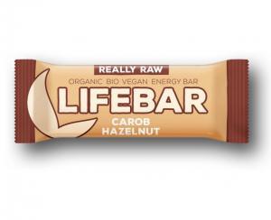 Lifefood Lifebar bio tyčinka karobová s lískovými oříšky 47g