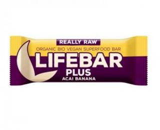 Lifefood Lifebar plus bio tyčinka acai banana 47g