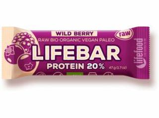 Lifefood Lifebar Protein bio tyčinka lesní ovoce 47g