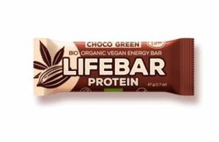 Lifefood Lifebar Protein bio tyčinka čokoláda a konopný protein 47g