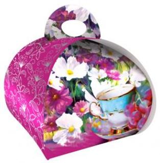 Liran Dárková taštička růžová - zelený čaj s přírodním aromatem jasmínu 5x2g